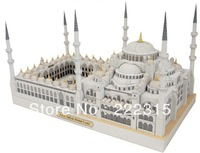 Educational toys simulation famous building in the Middle East mosque 3 d assembling model of the paper