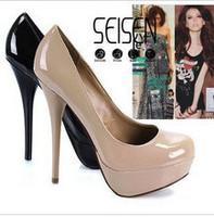 Platform Sexy Stiletto High Heel Women Pump Shoes BLACK/BEIGE  size 35-39 FREESHIPPING