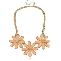 Free Shipping (5 Pieces/ Lot) New Arrival Flower-Modelling Necklace