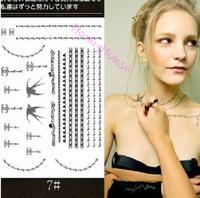10pcs/ lot necklace tattoo stickers Temporary body art flash tattoo Waterproof tattoo sex products #NS0022