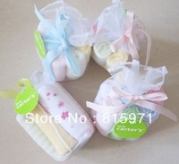 Free shipping (8 pieces/lot) baby 100% cotton handkerchriefs soft square towel 6400
