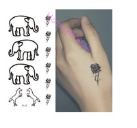 (10pcs/pack) Fashion flash tattoo body temporary tattoo waterproof temporary tattoos stencils for painting