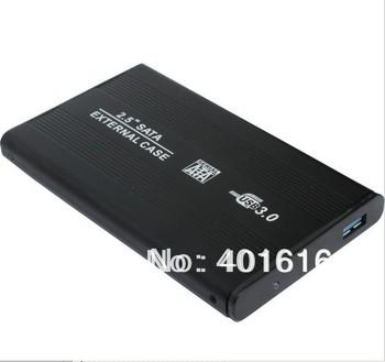 "Black 2.5"" USB 3.0 HDD Case Hard Drive SATA External Enclosure Box freeshipping"