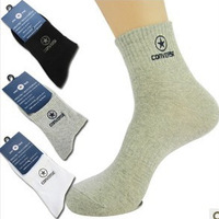 10Pair/Lot Autumn And Winter Sports Cotton Socks Men's Socks Body Stocking Quality Black White Gray Wholesale  F13334