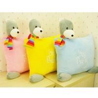 Free shipping. Bubu bear pillow sofa cushion nap pillow bubu bear gift,plush toys,