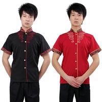 Uniform professional set summer work wear ktv male short-sleeve