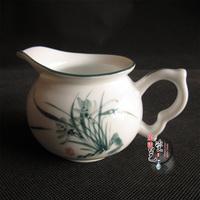 2014 Rushed New Nespresso Capsule Teapot French Press free Shipping Ceramic Tea Set Kung Fu Cup Fair Mug Sea Orchid
