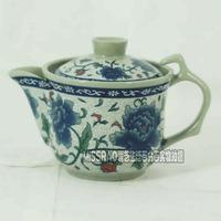Free shipping Blue and white porcelain pot Large tureen tea pot Small ceramic teapot kung fu tea