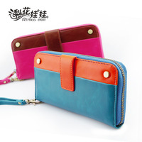 Pear doll wallet female decoration hasp color block long design women's wallet wallet q119