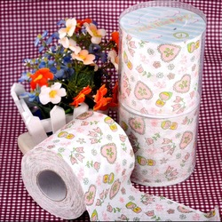 Toilet paper roll pumping print tissue toilet paper prontpage 4 roll love(Hong Kong)