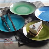 Free shipping Calvings glaze plate crack glaze plate ceramic western dish circle compotier plate dinnerware set