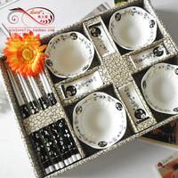 Free shipping Bowl ceramic sushi gift box 1 twinset wedding gift salad bowl dinnerware set