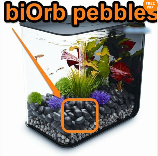 FISH TANK FLOW 30 REEF ONE BIORB FENG SHUI PEBBLE BLACK STONES PEBBLES(China (Mainland))