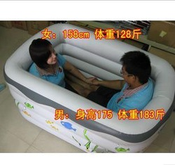 Yingtai rectangle inflatable bathtub adult child general swimming pool inflatable pump(China (Mainland))