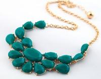COL023 2014 New Wholesale Geometry Choker statement shorts Necklaces max colares bijuterias collier false collar women