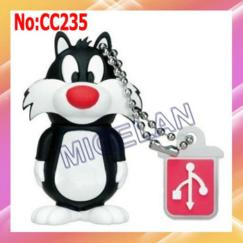 wholesale animals model USB Flash Drive 1GB 2GB 4GB 8GB 16GB 32GB 64GB PVC USB Flash Disk Free shipping #CC235