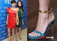 free shipping,2013 new shoes,Euramerican star sexy snake peep toe sandals,thin high heels shoes,lady shoes heels,black and blue