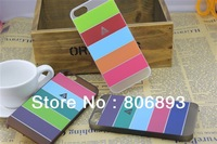 DHL/EMS free shipping for iphone 5 rainbow plastic case 100 a lot 9 colors  pattern
