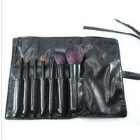 7 pcs make up bursh cosmetic brush set with cosmetic bag,animal hair makeup brush,branch basic,free shipping