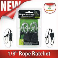 "8pcs Retal Pack Heavy Duty 1/8"" Rope Rachet Hanger 68KGS/ 147lbs  FREE SHIPPING"