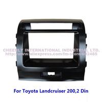 2 Din Car Audio Refitting Frame,Dash Kit,DVD Cover,Fascia Panel,Dashboard Kit for Toyota Land Cruiser 200 Double Din