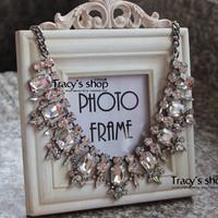 Fashion vintage Acrylic luxury short necklace Free shipping