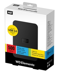 Free shipping -Orginal WD Elements Portable hard drive 500G External Hard Drive 500GB USB3.0 disk drive External HD(China (Mainland))