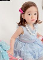 Retail 1pcs free shipping top quality 2013 new arrive baby dress fashion Chiffon girl for summer children lace tutu vest dress