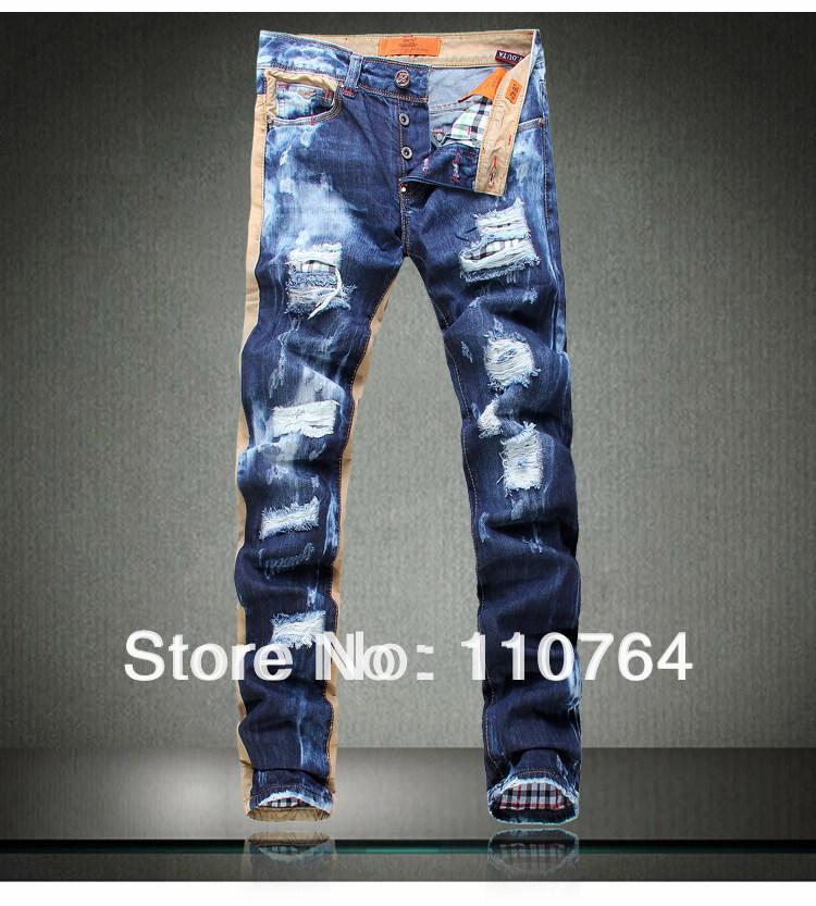 Aliexpress.com : Buy 2014 Top New Men Jeans Broken / Hole / Distressed ...