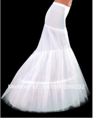 En kwaliteit zeemeermin petticoat 2 hoepels witte trouwjurk crinoline