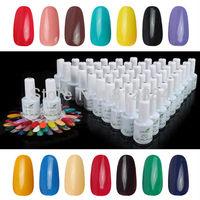 60 Colors 15ml  Nail Art Nail Soak Off UV Gel Polish Set For UV Lamp Glitter Tips Decoration LW005 Free Shipping