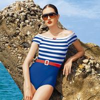 Sunseeker hl3029 classic chuanwei poem navy stripe one piece triangle swimwear
