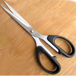 Advanced stainless steel scissors 8138 a household scissors black 6 blister card scissors paper cutting special scissors(China (Mainland))