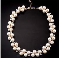 Short design female necklace pearl married the bride vintage fashion decoration
