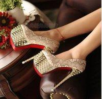 2013 sexy women's pumps 16cm ultra high heels platform party dance shoes rivet pumps   EUR size35-39 3070