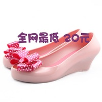 Hot-selling 2012 melissa wedges sandals bow open toe crystal shoes jelly shoes rain boots single shoes