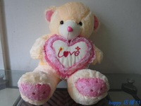 Bilateral bear holding heart plush toy 60 , length 90cm wool , soft and comfortable