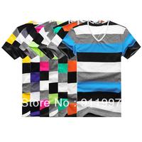 2014 brand summer mens short sleeve T shirt casual slim fit stylish fashion designer cotton t shirt, 7 colors, 4 size