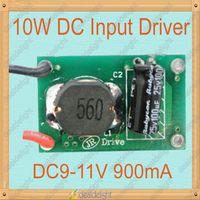 Freeshipping!10W DC8-24V Input LED Driver output DC9-11V 900mA for 10W 3 series 3 parrarel High Power LED Light