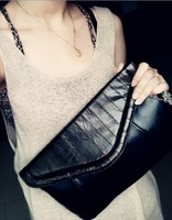 Fashion n19 2013 eel genuine leather bag envelope evening bag day clutch one shoulder cross-body women's handbag