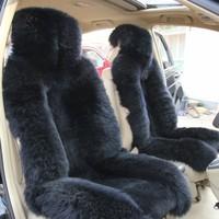 wool  car seat cover cashmere plush cushion four seasons general wool pad