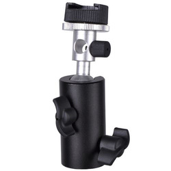 Universal Hot Shoe Flash Umbrella Holder Swivel Light Stand Bracket F Type E0224F Eshow(China (Mainland))