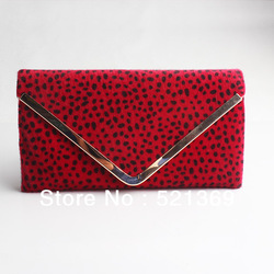 promotion! sexy leopard grain eveningbag soft clutch hight grade women handbag whosale or ratail free shipping(China (Mainland))