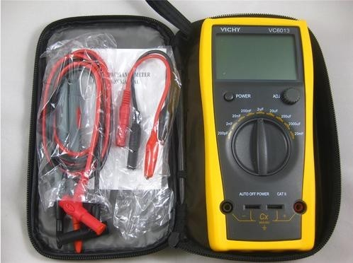 VC6013 200pf to 20mF digital capacitor / capacitance meter discharge+free shipping(China (Mainland))