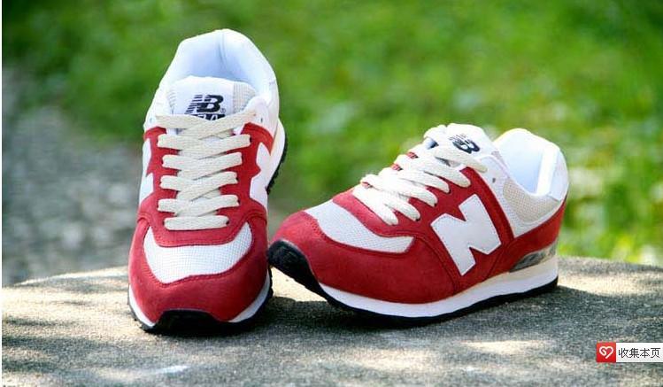 new balance 574 rojas y blancas