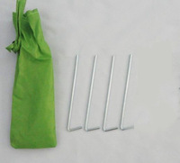 Free Shipping Wholesale Camping Tent Pegs Tent to Nail Bag 4pcs Tent Pegs Fast Delivery--20pcs/lot