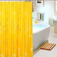 1.8*1.8m Shower curtain waterproof thick bathroom curtain yellow mildew splash resistant free shipping customerize