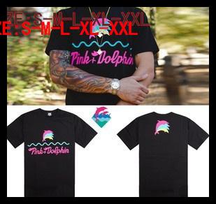 Мужская футболка Pink dolphin t /025 Discount T Shirt-025 повседневные брюки ecko 10deep black scale pink dolphin