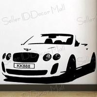 Famous sports car PVC Wall Sticker ,Wall Decal ,Wallpaper, Room Sticker, House Sticker Free Shipping C-89