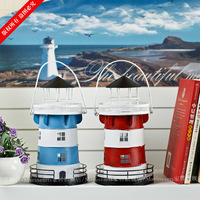free shiping Home accessories metal lighthouse mousse decoration interspersion